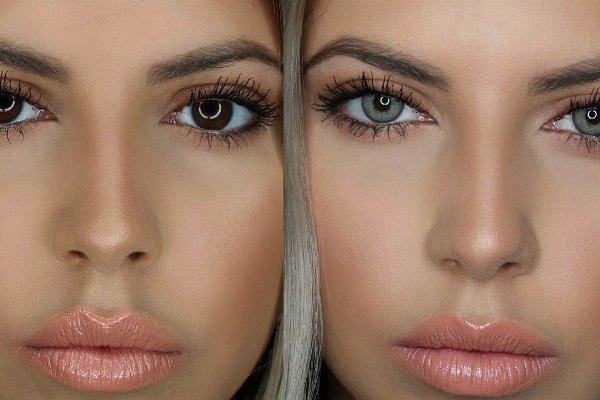 Измененный цвет глаз