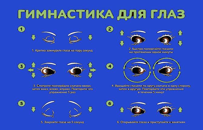 Гимнастика для уставших глаз