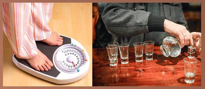 Избыточный вес, чрезмерное употребление алкоголя