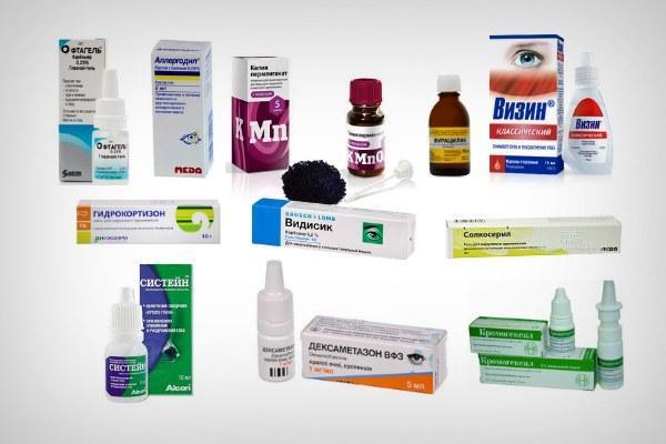 Лечение препаратами папиллярного конъюнктивита