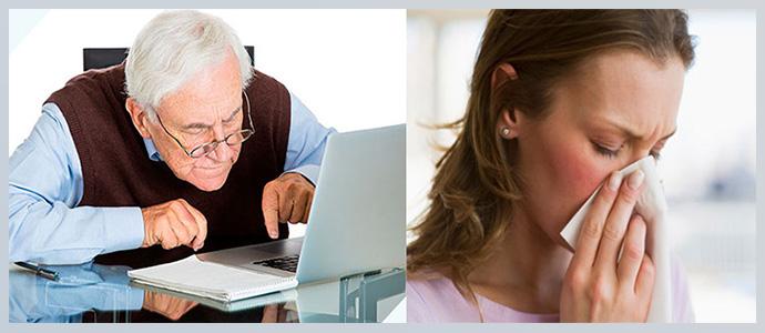 Частые вирусные инфекции и возраст старше 55 лет
