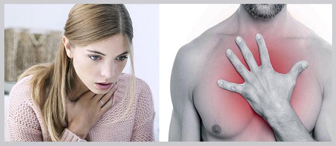 Одышка, боль в грудной клетке