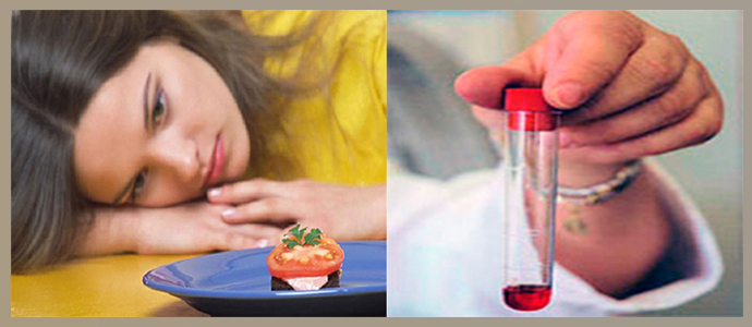 Развитие малокровия, потеря аппетита и похудение