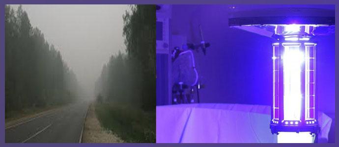 Ультрафиолетовое облучение, задымленность воздуха