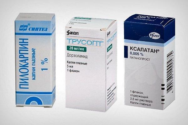 Препараты для снижения ВГД